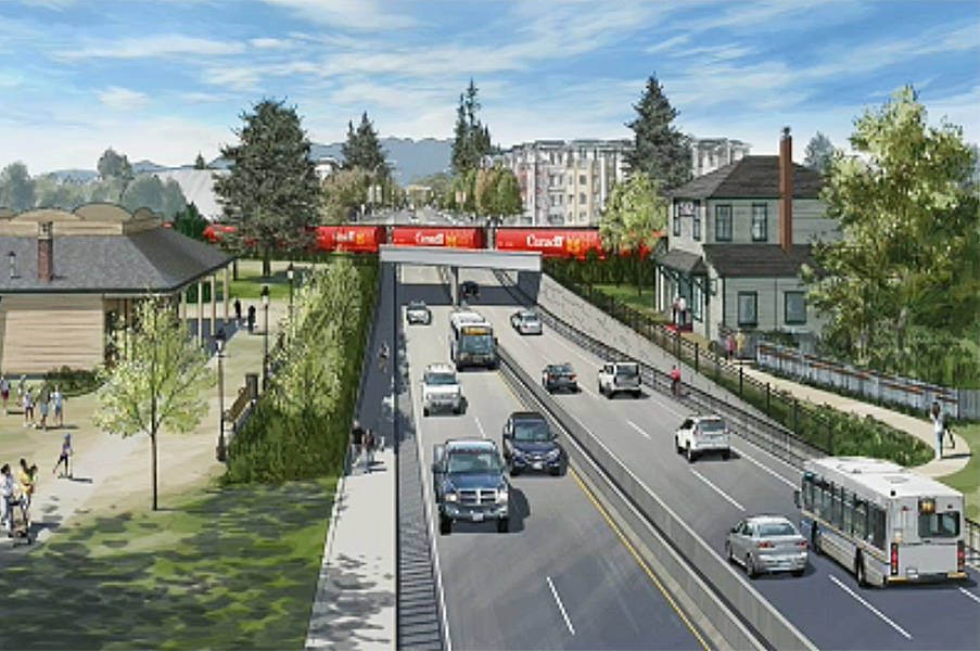 An artist's rendering of the underpass at Harris Road. (Contributed)